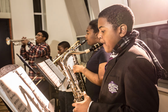 After-school practice at Stax Music Academy