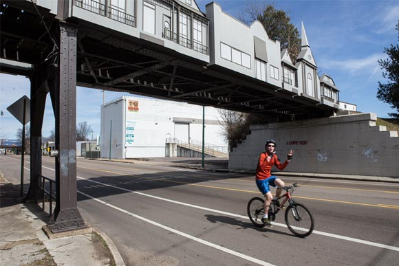Cyclist in Cooper Young