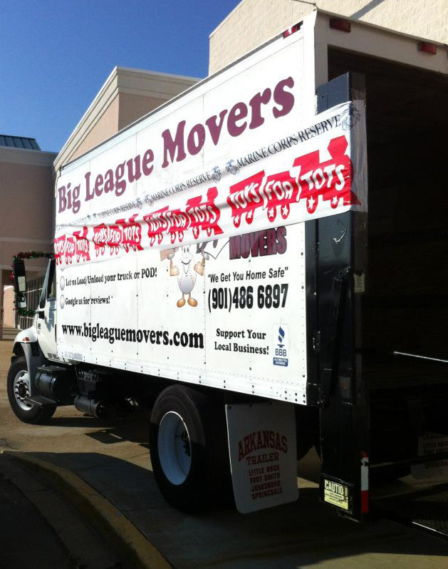 Big League Movers makes a special holiday delivery for Toys for Tots.