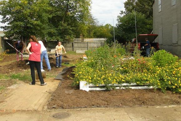 The students of Carnes Elementary School maintain a garden across the street from the school