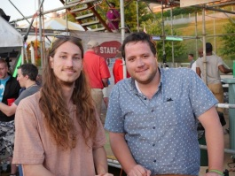 CEO & Founder Jack Simon; COO Luke Benson at BBQ Fest