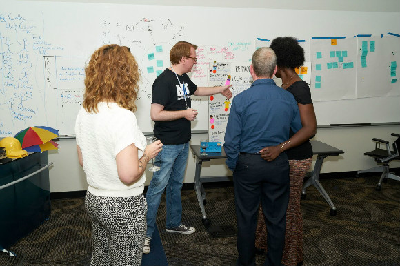 Innovate Memphis Director Justin Entzminger discusses one of the concepts from the bootcamp.