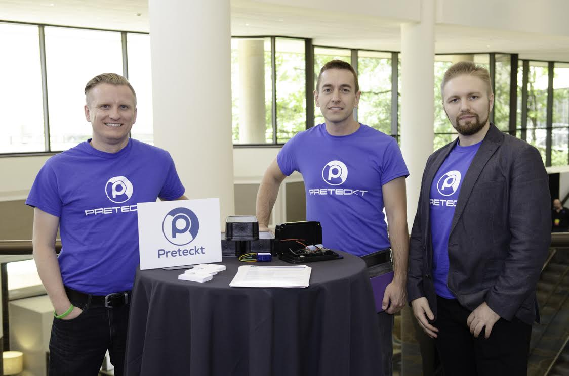 Preteckt's three founders at Demo Day