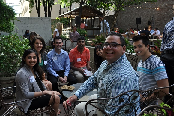 Interns gathered at Felicia Suzanne Restaurant downtown for the Summer Experience kickoff on June 1