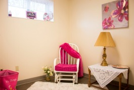 A place for teen mothers to relax with their babies at the Hagar Center