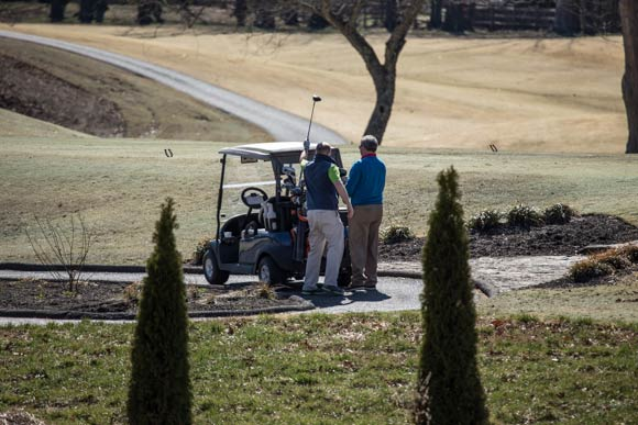 Golfers at Germantown Commissary