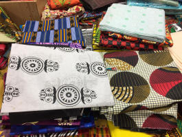 Fabrics with vibrant patterns for sale at African Kingdom at Park Avenue and Getwell Road. (Submitted)
