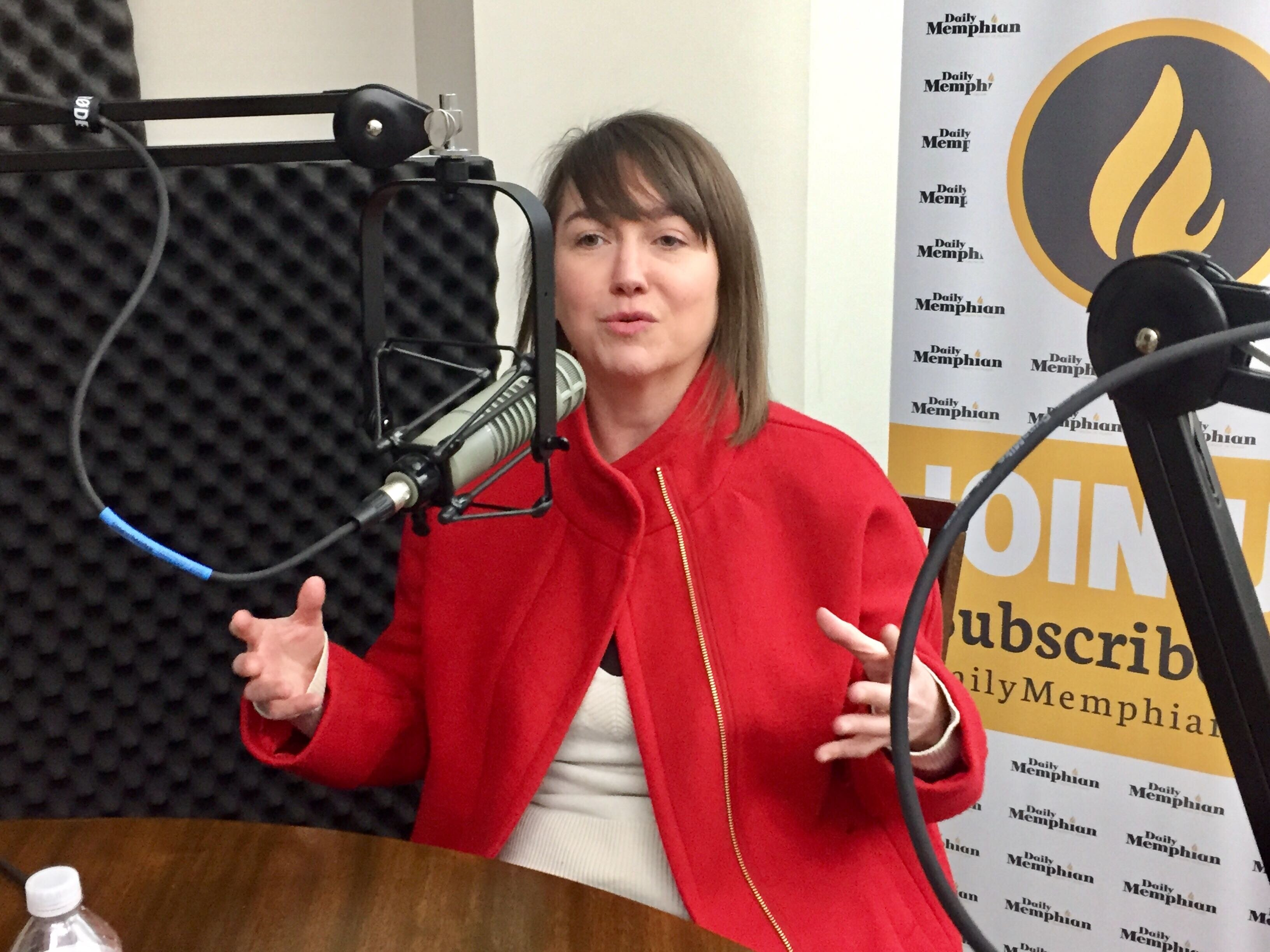 Anna Mullins with New Memphis discusses the upcoming TEDx Memphis event. It will be held on February 22 at the Concourse Theater. (Natalie Van Gundy)