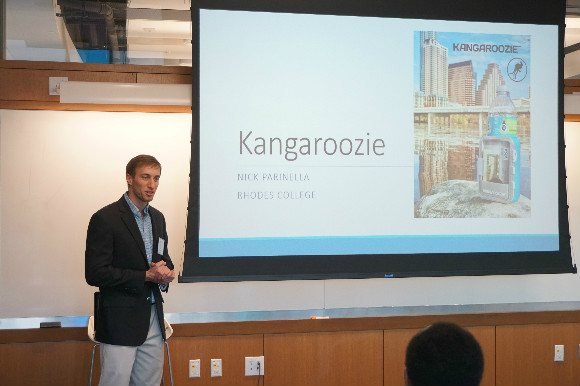 Nick Parinella introducing Kangroozie at the Nashville chapter of the Entrepreneurs' Organization.