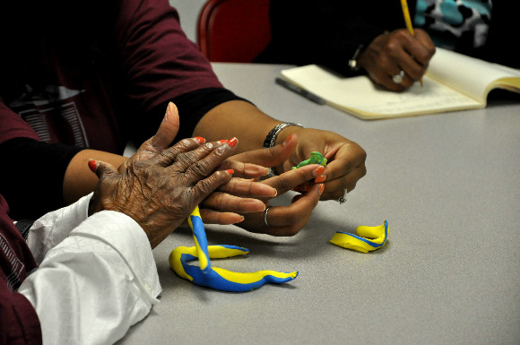 An art therapy session hosted by the Memphis Brooks Museum of Art.