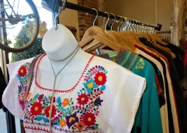 Colorful Mexican-inspired clothing, ceramics, clutches and other items from Mucho, one of the vendors whose items are available through the month of December at The Attic in Overton Square. (Aisling Maki)