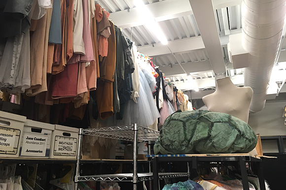 On the second floor, upwards of 10,000 costume pieces reside in a large storage room waiting for their next time on stage.