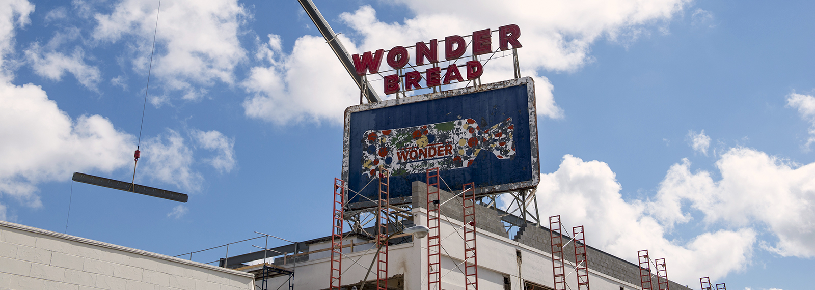 Construction takes place at the former Wonder Bread factory at 400 Monroe Avenue. (Brandon Dill) <span class='image-credits'></span>