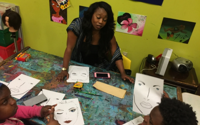 Youth programming at the Memphis Black Arts Alliance. (MBAA)