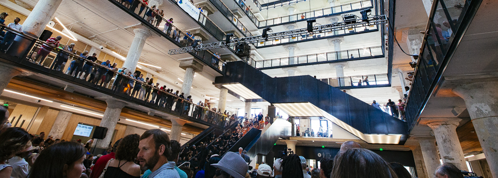 Thousands fill Crosstown Concourse for the grand opening on Aug. 23, 2017.