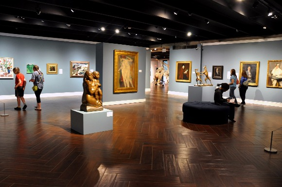 The American gallery at the Brooks Museum.