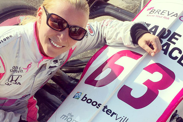 Boosterville developed a partnership with Indy race car Pippa Mann and the Dale Coyne Racing team.