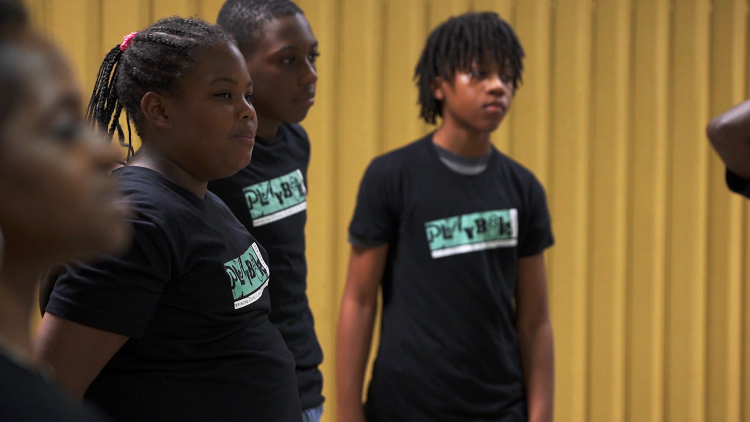 Members of the Playback Memphis Youth Ensemble gave their first performance at the second annual Frayser Matters event. (Playback Memphis)