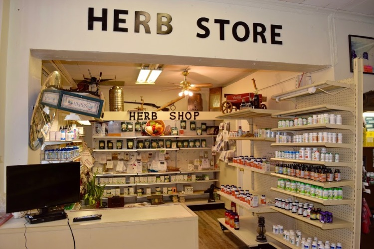 The interior of Champion's Pharmacy & Herb Store in Whitehaven.
