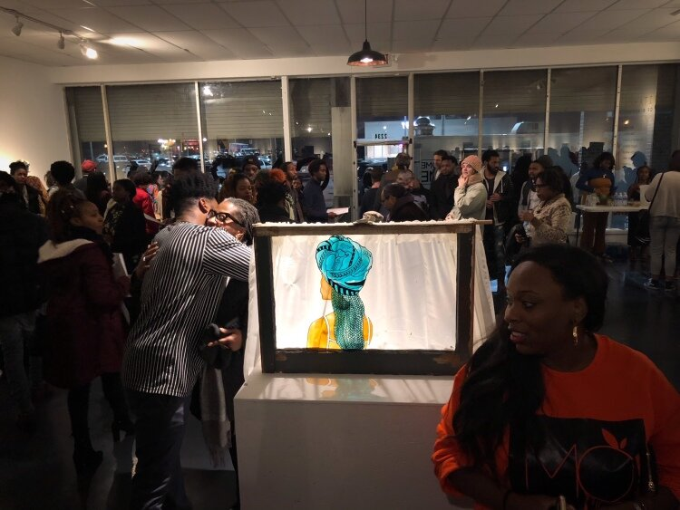The CMPLX opened on January 11, 2019 to a packed house. On December 22, it will host Visuals and Vibes, an exhibition of local women artists of color.  (Cole Bradley)