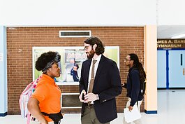Andrew Bobowski serves as the principal of KIPP Memphis Collegiate High, located at 2110 Howell Avenue in North Memphis. (Elizabeth Hoard Photography)