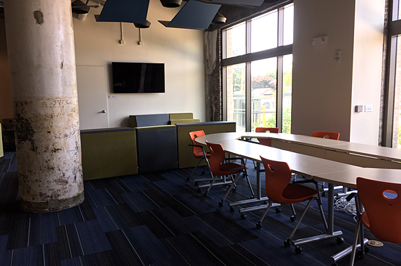 Common areas in the Crosstown High building will be an essential element for peer-to-peer collaboration.