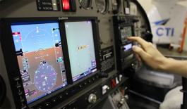 The Redbird FMX simulator at CTI Professional Flight Training helps students become familiar with the controls and develop their flying skills before taking to the air. (Submitted)