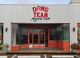 Rendering of the future home of Dawg Team Apparel USA, which opens soon at 420 North Cleveland Street in Crosstown. Dawg Team is a Black-owned business that specializes in pet apparel and treats for canine family members. (Submitted)
