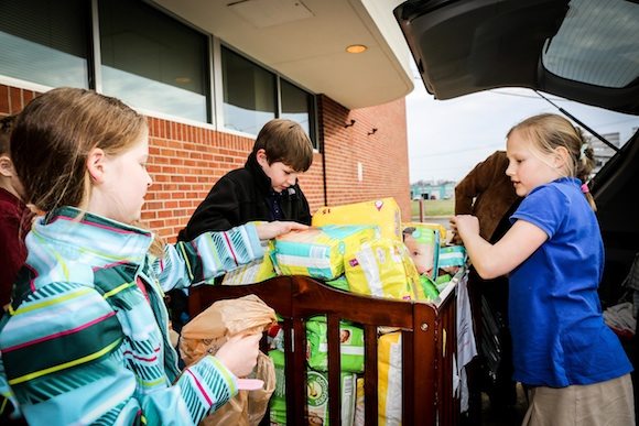 Farmington Elementary students plan and implement a diaper drive for a service project challenge