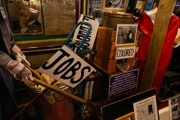 Civil Rights-era artifacts at the House of Mtenzi.