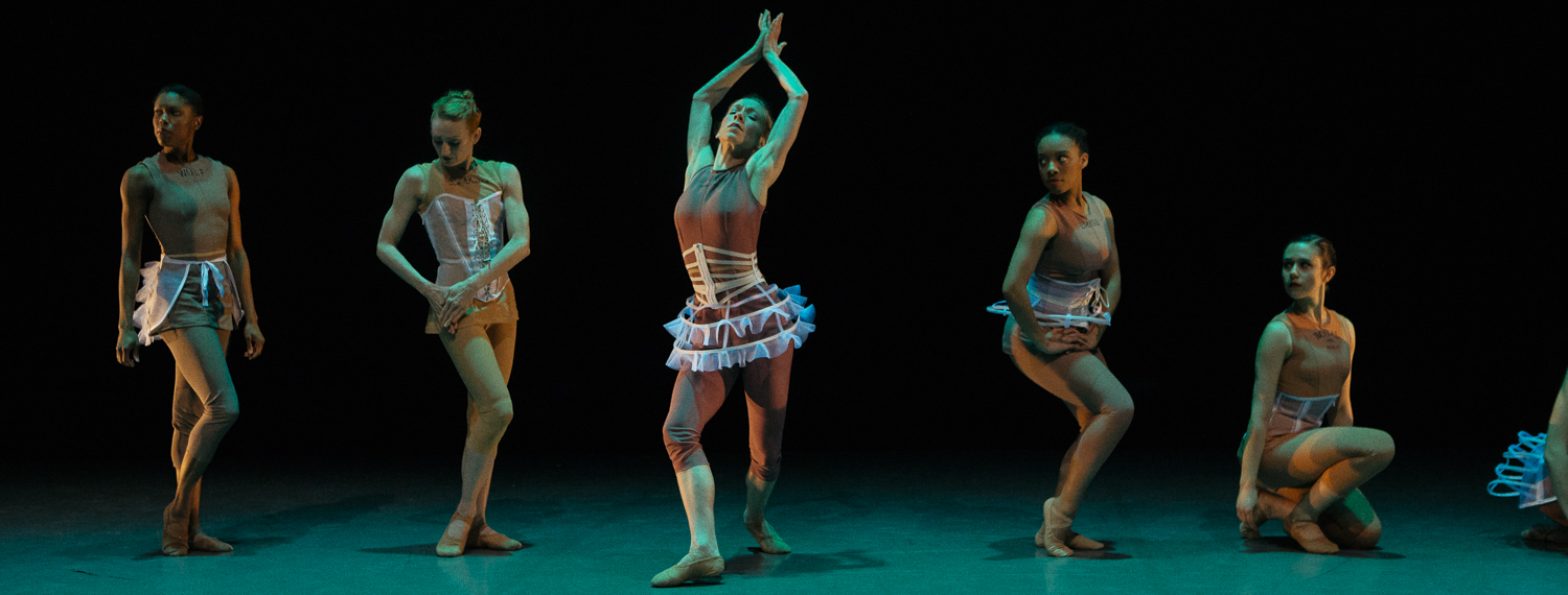 "Ballet Memphis dancers perform ""I Am a Woman: Moult"" as part of a commemoration of the 50th anniversary of Dr. Martin Luther King, Jr.'s assassination. <span class='image-credits'>Ziggy Mack</span>"