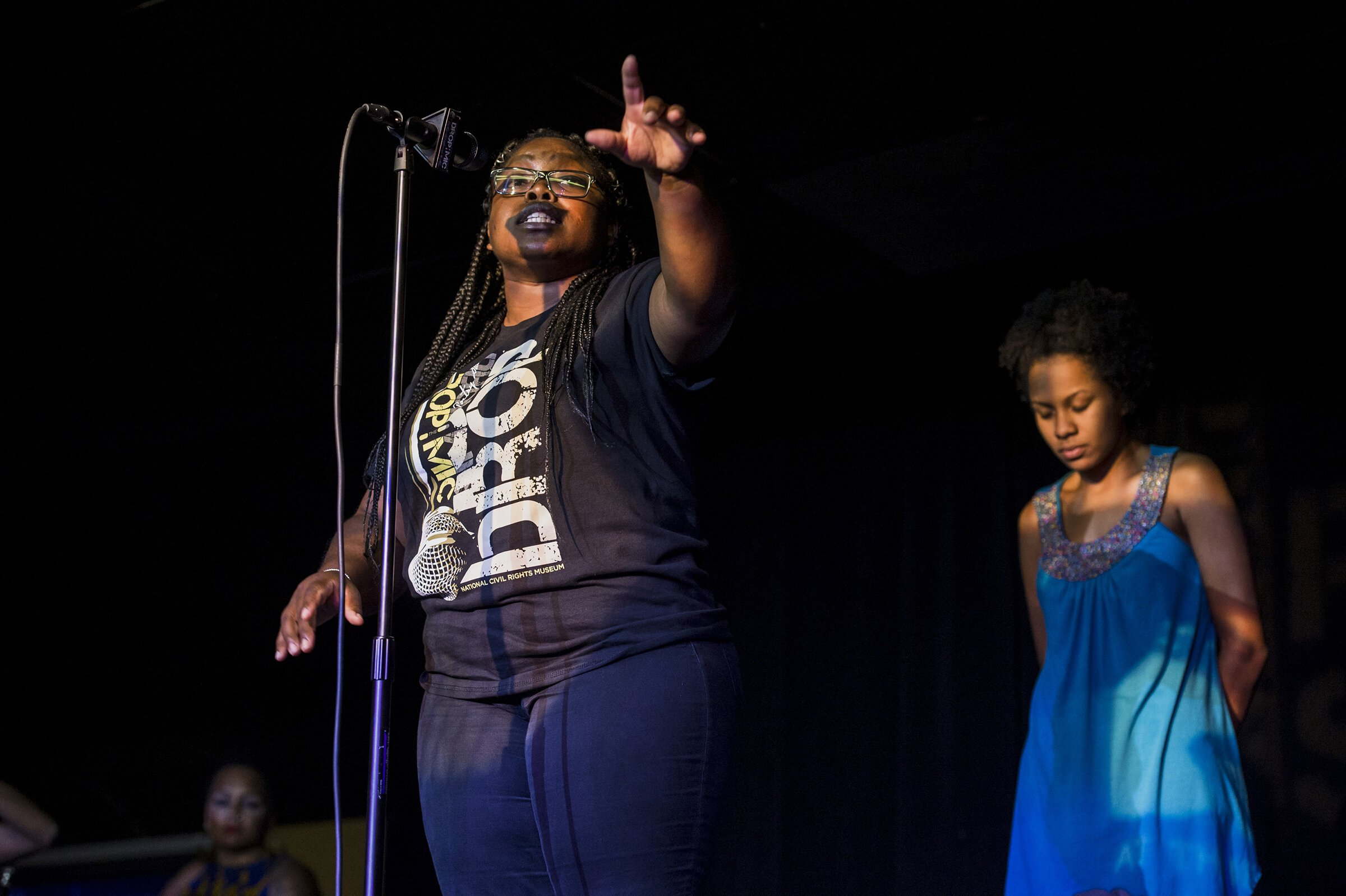 Carin Malone, who performs as Writeous Soul, is a Memphis slam poetry master working to revive the city's spoken word culture. She won the National Civil Rights Museum's Drop the Mic Poetry Slam in 2017 and now advises on the project. (Writeous Soul)