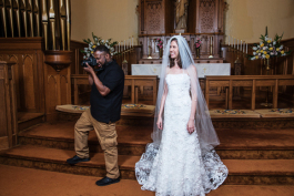Quincy Foster, a LAUNCH graduate, captures moments while at work during a wedding.