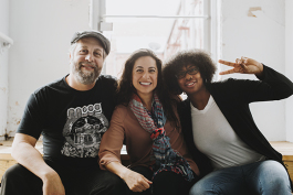 Alex Greene, Yancy Villa Calvo, and Neili Jones at the Urban Art Commission offices. (Houston Cofield)