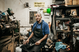 Alvin Hooper, owner of Nu-Life Shoe Repair, reflected on his life in the shoe repair business for the past 35 years.