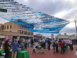 A March 9 gathering to introduce the Edge district's latest art installation.