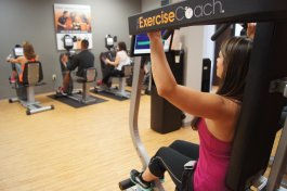 The Exercise Coach program calls for two twenty-minute workouts per week. Each machine that a customer uses has a computer that tracks each session. The sessions are led by a personal trainer. (Submitted)