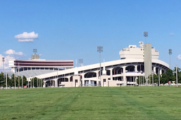 The Liberty Bowl, with its expansive parking lot, is the anchor for the Fairgrounds but is only used to capacity for the college football season.