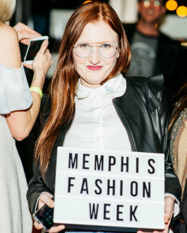 Participants of Memphis Fashion Week attend a runway show at Memphis College of Art.