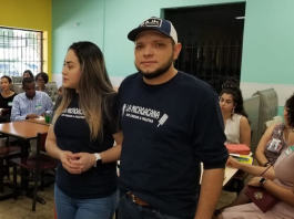 La Michoacana owners Ana and Rafael Gonzales spoke at the Gateways for Growth community meeting held at their restaurant at 4091 Summer Avenue. (Submitted)