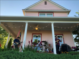 Neighbors enjoyed Memphis-based Geist at the first Uptown porch concert series. (Cole Bradley)