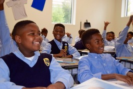 Students at Grizzlies Preparatory Charter School, located Downtown. (Rachel Warren)