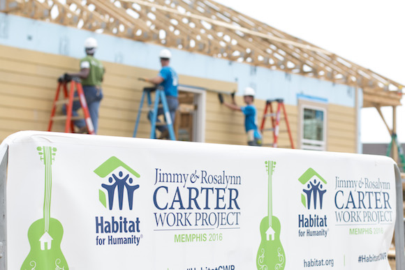 Volunteers and professionals worked alongside former President and First Lady Jimmy and Rosalynn Carter to build the Bearwater community in the greater Uptown area.