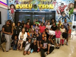 Youth pose for a picture at the Hero Empowerment Center. The center was formally an old arcade that Heal the Hood Foundation transformed into a teen center. (Heal the Hood Foundation of Memphis)