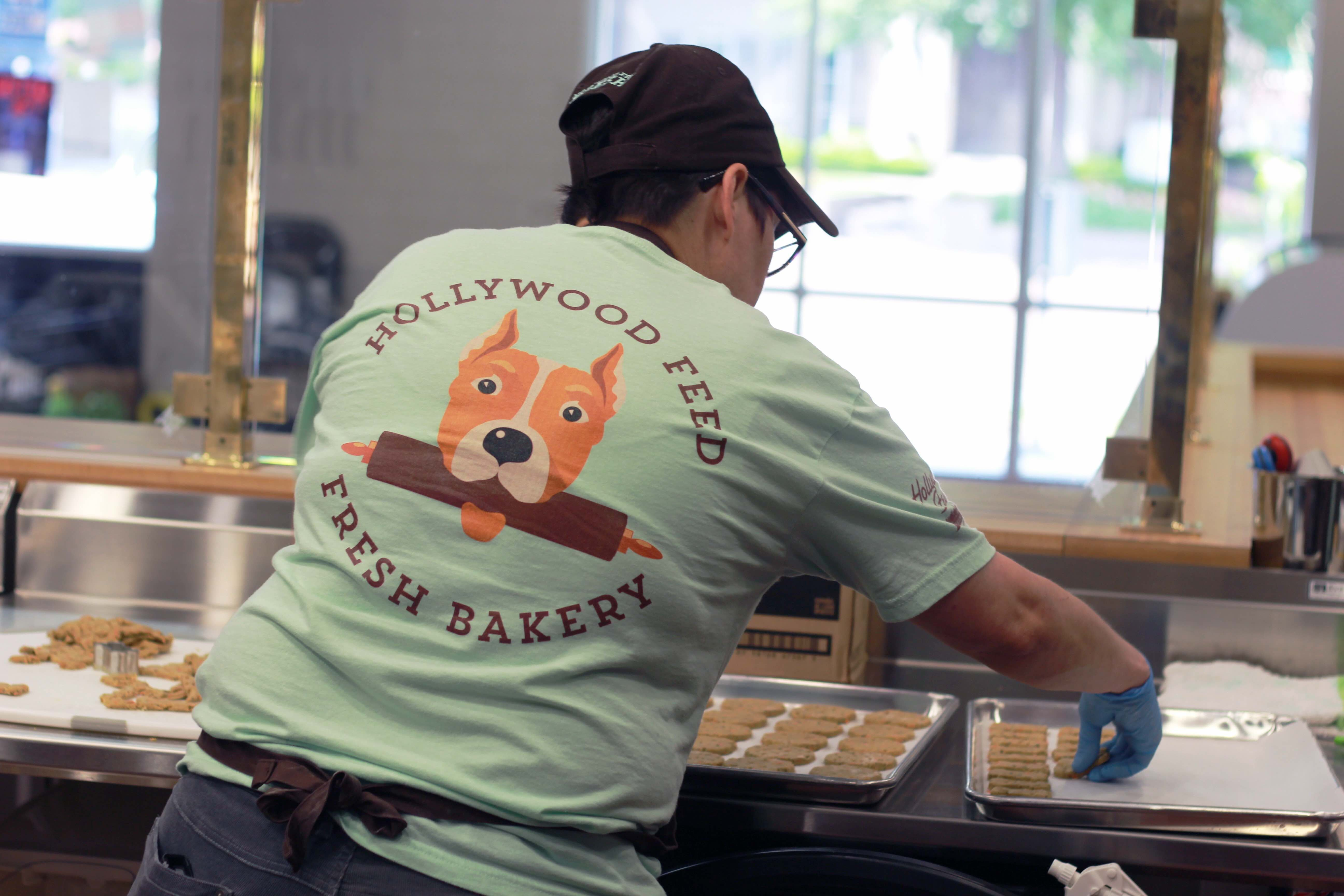A Hollywood Feed staff member makes gourmet dog cookies. The story offers a range of gourmet treats including cakes and cupcakes. (Submitted)