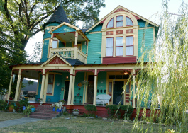 The Captain Harris house, built in 1898, is one of dozens of properties available for short-term rental in Cooper-Young, the city's most commonly listed neighborhood on the site.