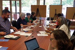 A Healthier Tennessee Neighborhoods focus group hosted by VECA earlier in July, featured representatives from the Crosstown and Klondike Smokey City CDCs.