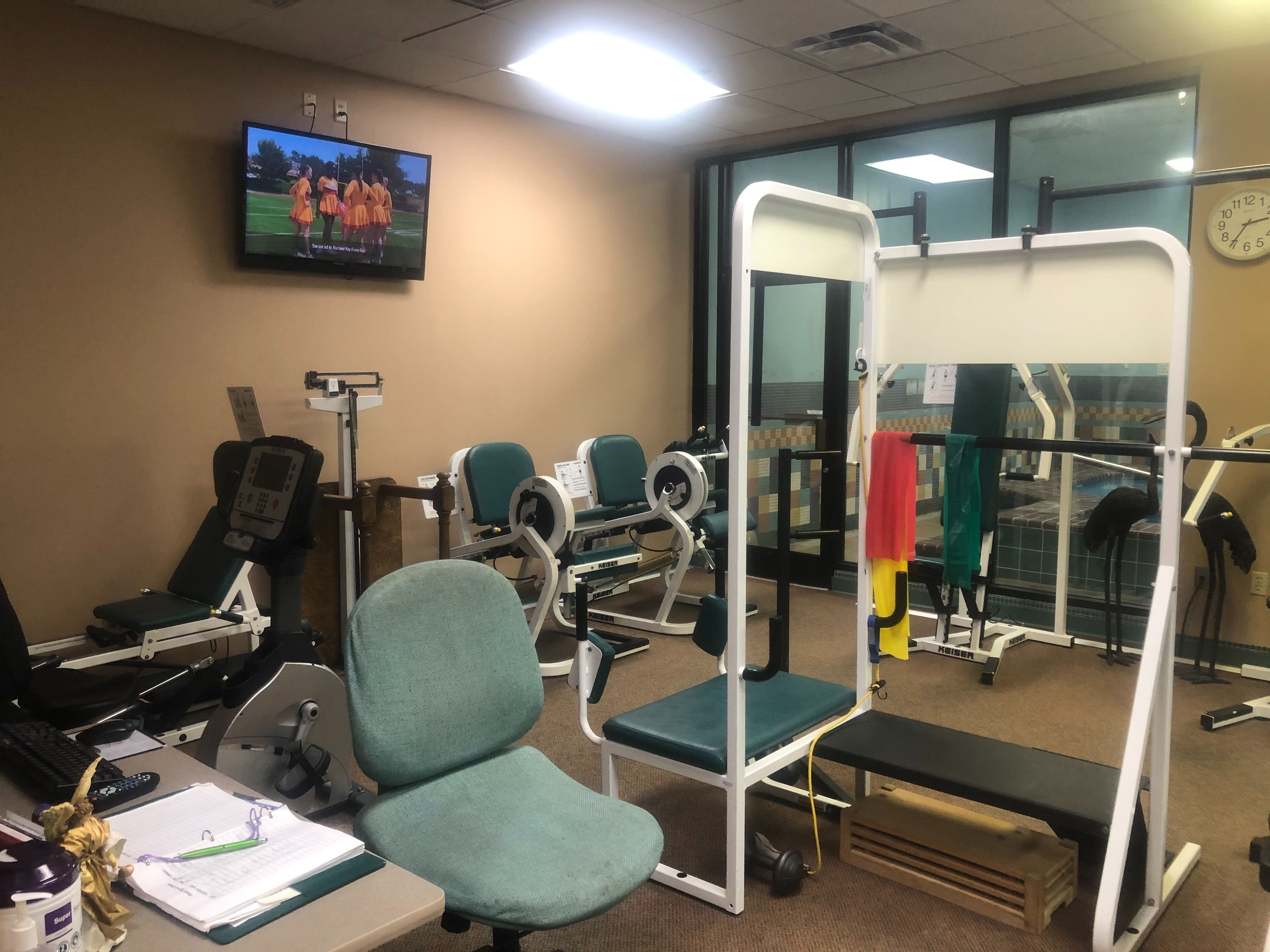 The current workout room at Kirby Pines retirement community is too small for the number of residents who want to stay active and the activities they want to try. They're expanding the workout facility, including the indoor pool. (A.J. Dugger)