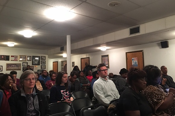 Orange Mound residents, entrepreneurs, and other community stakeholders filled the small room in Beulah Baptist Church in Orange Mound on Tuesday, November 7 to discuss reasons for the decline in home ownership in the neighborhood.