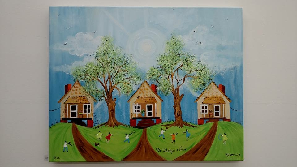 Orange Mound native NJ Woods' work is inspired by the neighborhood's shot gun houses.